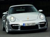 2008 Silver Porsche 911 GT2 Wallpaper Front view