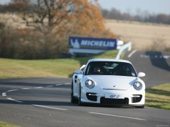 2008 White Porsche 911 GT2 Wallpaper Front view