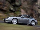 2009 Grey Porsche 911 Carrera 4 Wallpaper Side view In motion