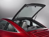 2009 Red Porsche 911 Targa 4 Wallpaper Rear angle view