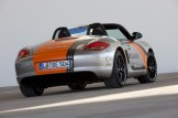Electric Porsche Boxster E First drive Rear angle view