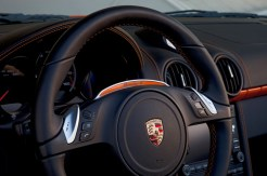 Electric Porsche Boxster E First drive Interior Steering wheel