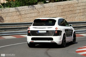 Porsche tuning: Gemballa Porsche Cayenne Tornado GTS 750 Rear angle view