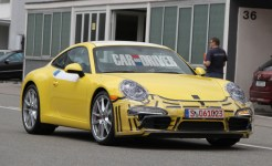 2012 new Porsche 911 (Porsche 991) Spy shot Front angle view