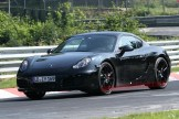 New Porsche Cayman 2012 Spy Shots Front angle side view