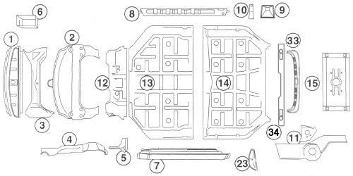 356 Exterior: Porsche repair panels