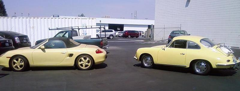 Butternut Yellow 356 And Matching Boxster Porschebahn