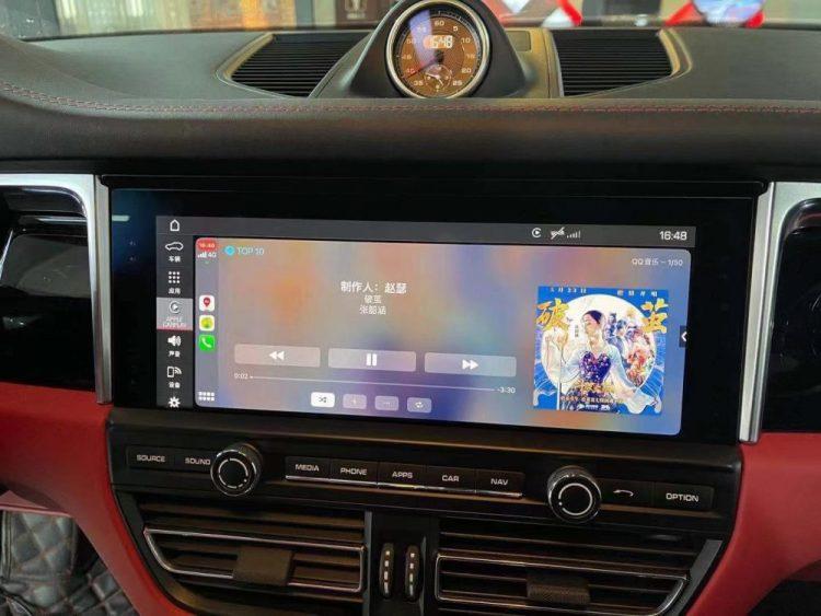 full-screen poresche carplay pcm5