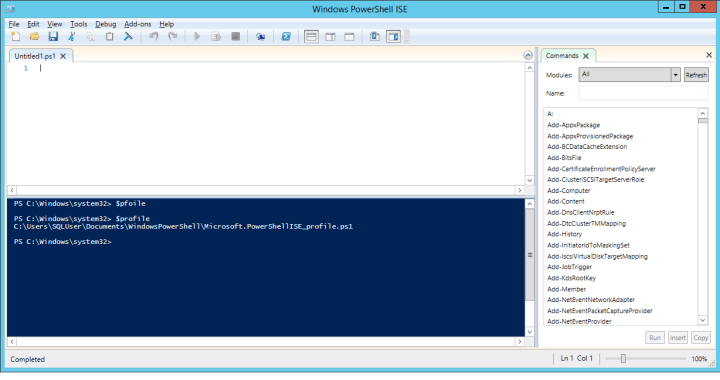 The PowerShell ISE with some FORESHADOWING!