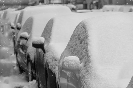 A Wave of Snow Topped Cars 1/9/2015