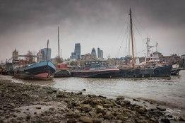 Barges at River Neckinger, Thames 1/1/2016