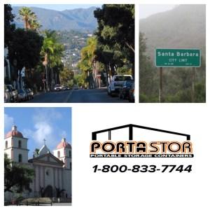 Rent portable storage units in Santa Barbara CA
