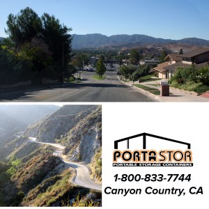 Rent portable storage containers in Canyon Country, CA