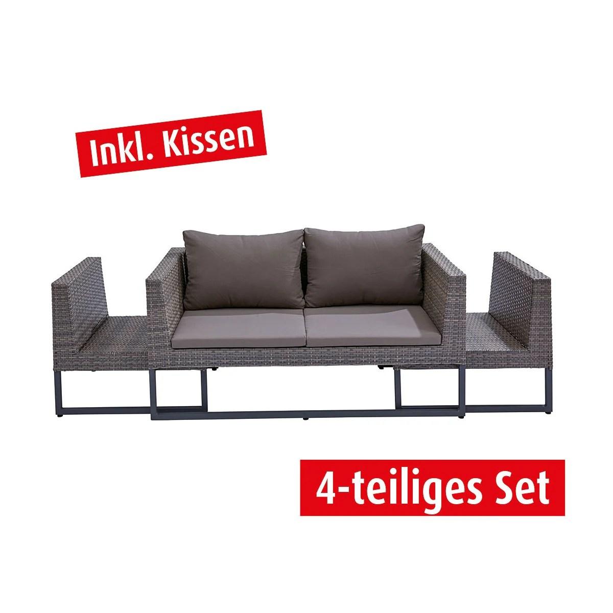 Lounge Sitzecke Sitzecke Garten Rattan