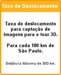 taxa de deslocamento tour virtual 3d