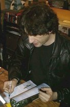 Signing Dustcovers.