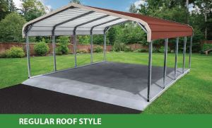 regular roof style standard carport