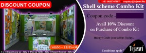 3x3 mtr 2 side open Portable Exhibition Combo Kit TD2S-04