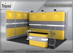 4 meter x 3 meter Portable exhibition kit 2 side Open_432S-3