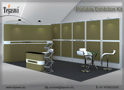 6 meter x 3 meter Portable exhibition kit 2 side Open__632S-5