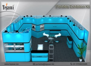 6 Meter x 6 Meter Portable Exhibition Kit one side open_661S-1