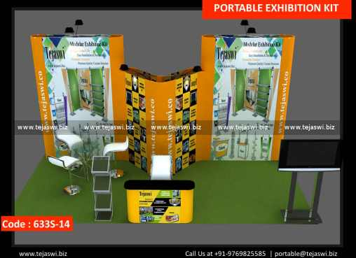 6 Meter x 3 Meter Portable Exhibition Booth 633S-14