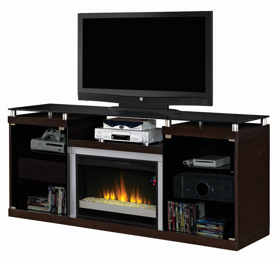 Corner Electric Fireplace Media Center Classic Rustic Modern Black 72'' Albrite Espresso Entertainment Center Electric