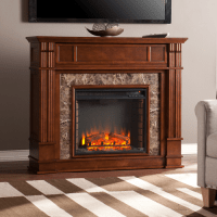 "48"" Highgate Faux Stone Electric Media Fireplace - Whiskey ..."