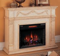 55'' Gossamer Antique Ivory Electric Fireplace