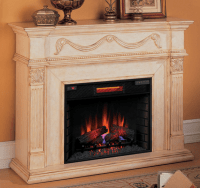 55'' Gossamer Antique Ivory Electric Fireplace - 28WM184-T408