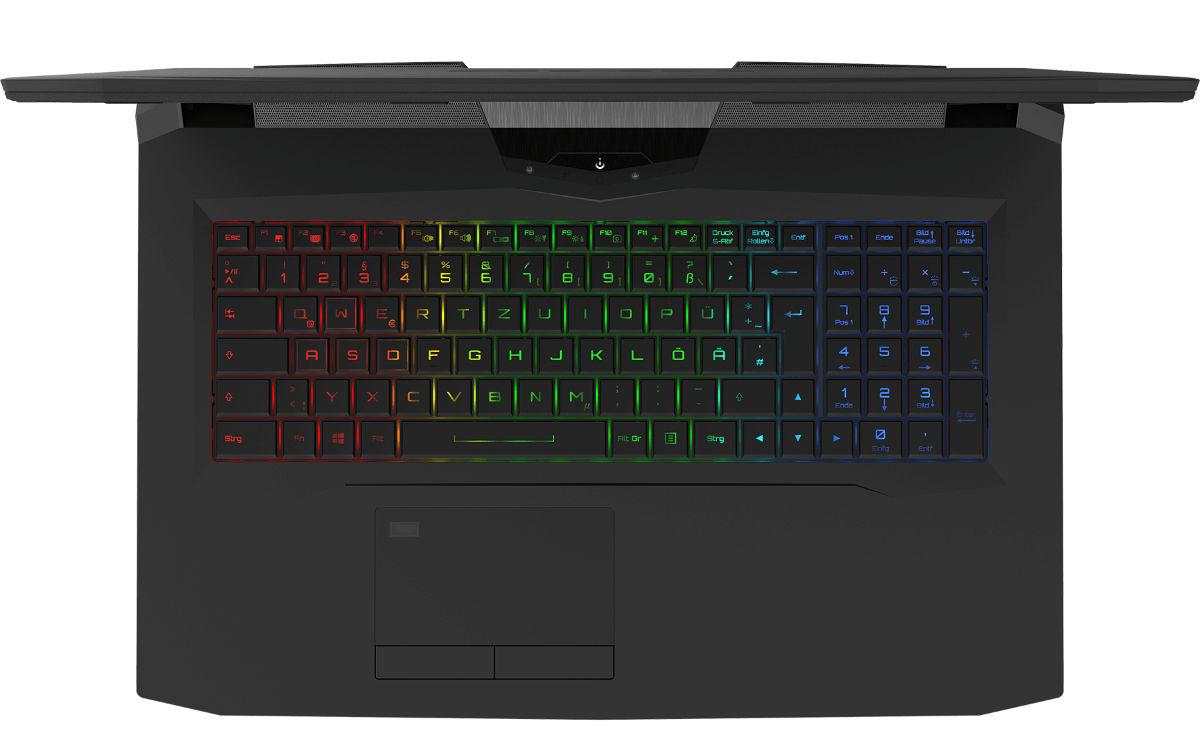 XMG Ultra 17 clavier RGB