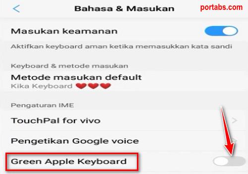 Cara Merubah Keyboard Android Menjadi Seperti Keyboard iPhone