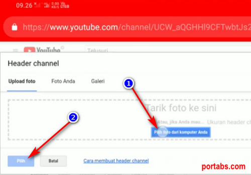 Cara Mengganti Sampul Channel Youtube dari Smartphone Android