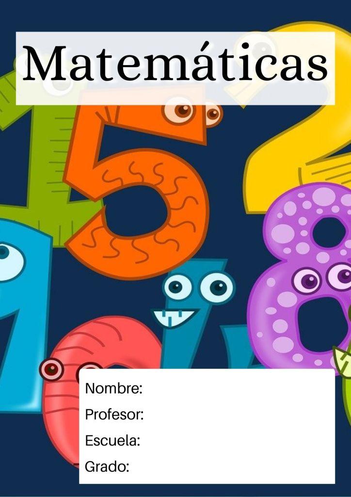 portada de matemáticas para niños