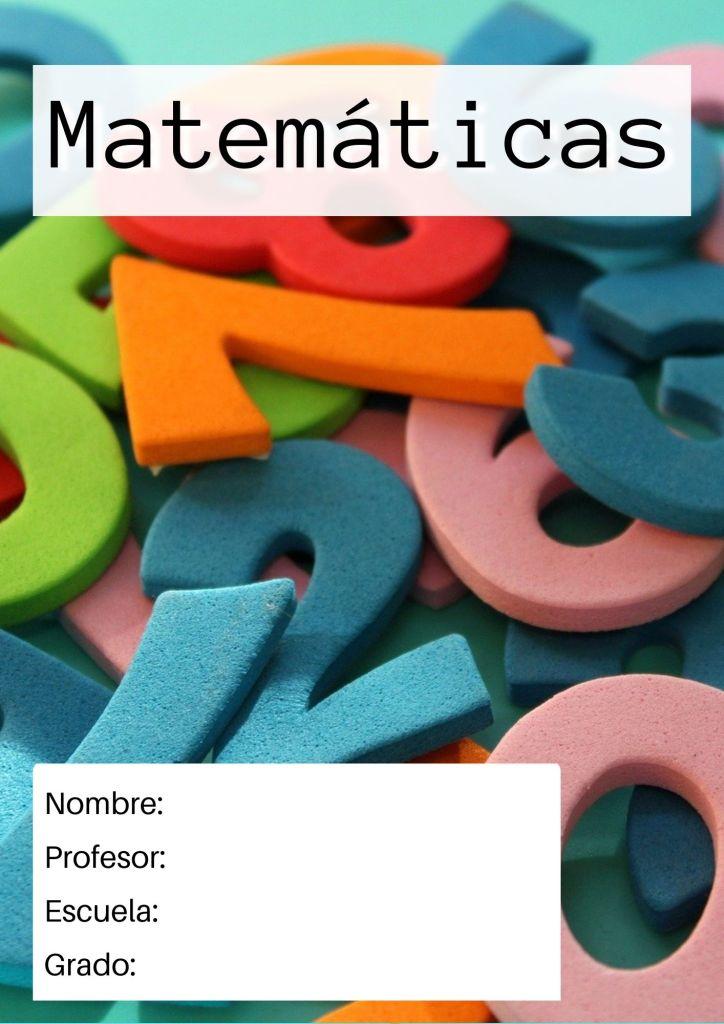 portada de matemáticas para primaria