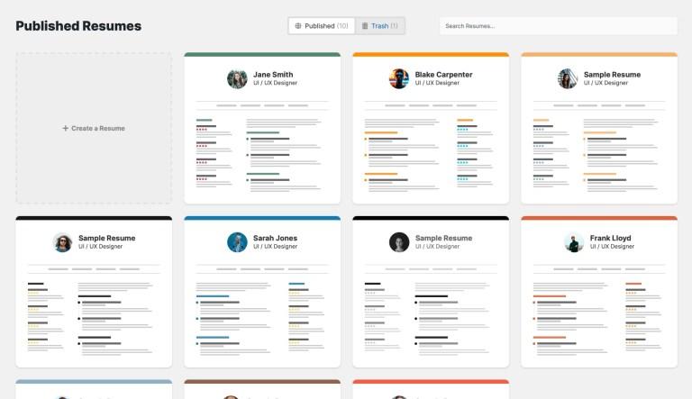 Crear currículum en WordPress