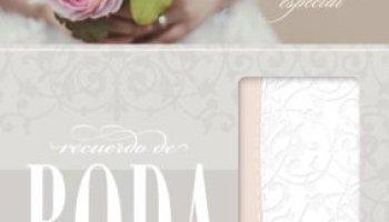 rvr 1960 biblia recuerdo de boda blanco floral simil piel