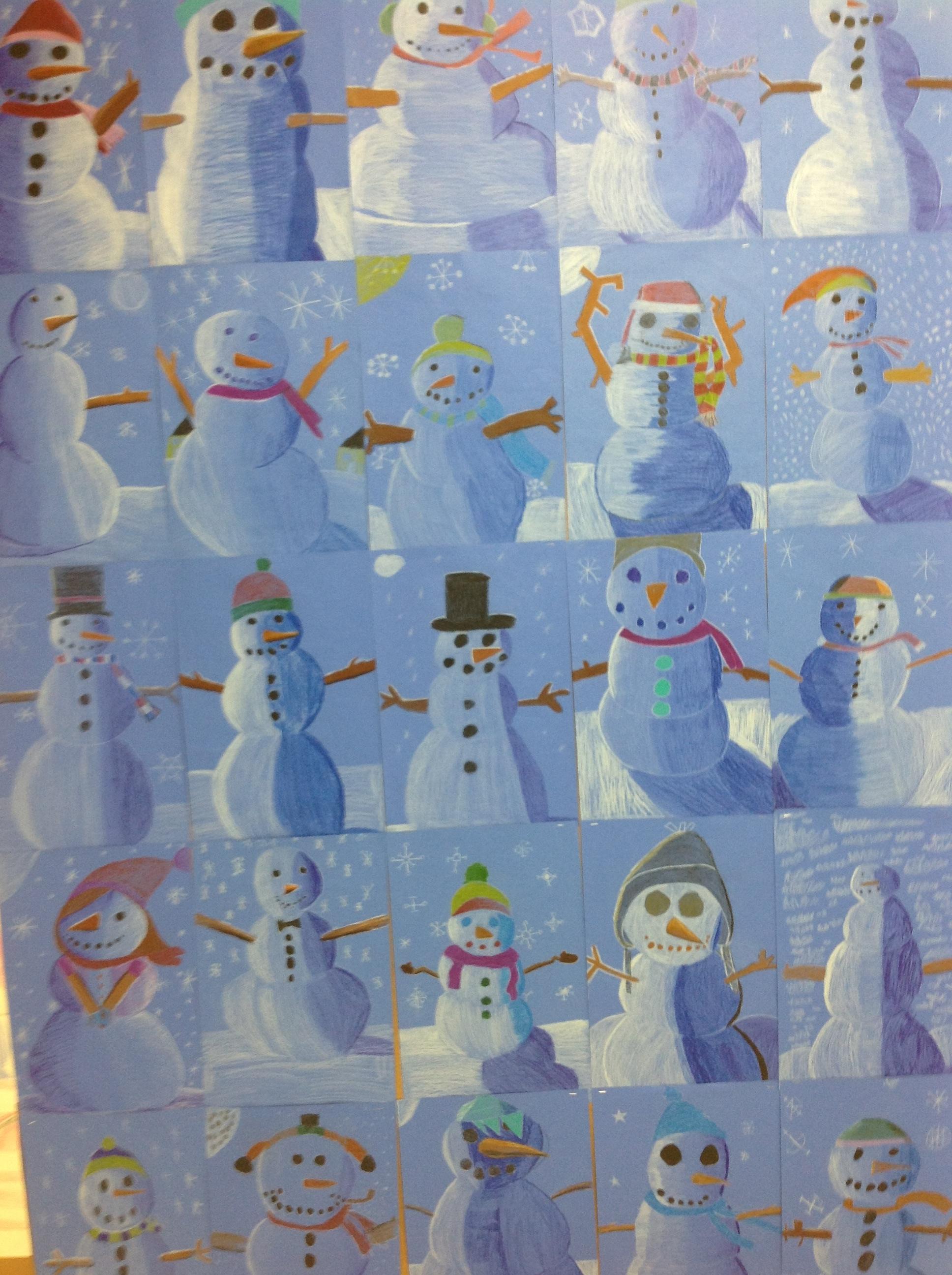 Snowmen Snowmen Everywhere Mrs Yang S Art Room