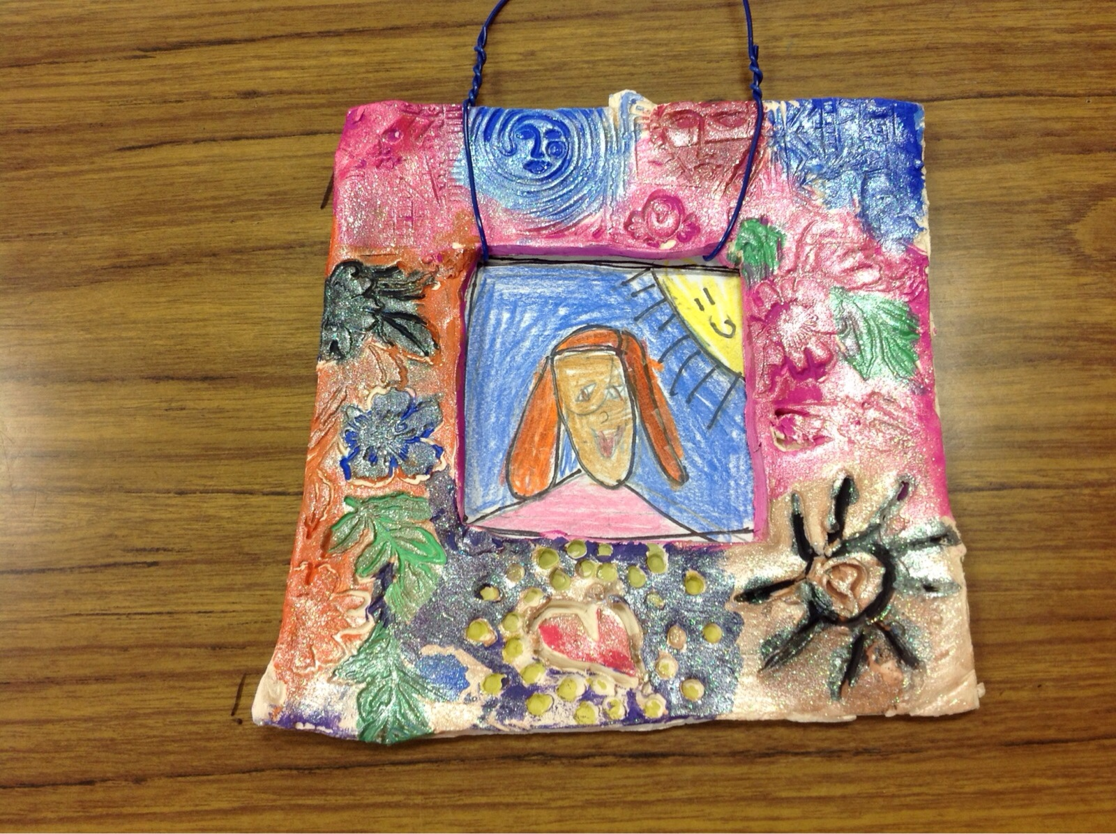 First Grade Ceramic Picture Frames And Self Portrait