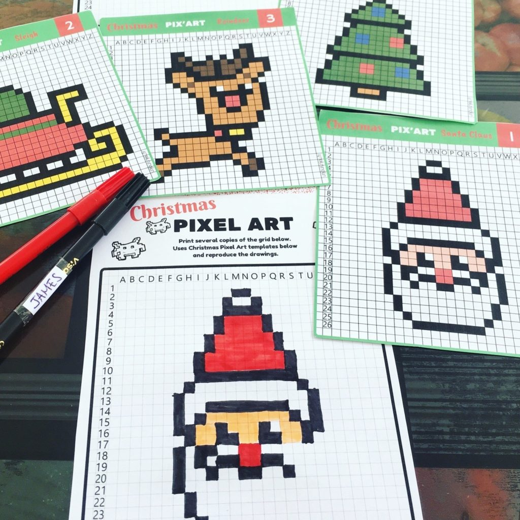 Pixel Art De Noël Portaileduc