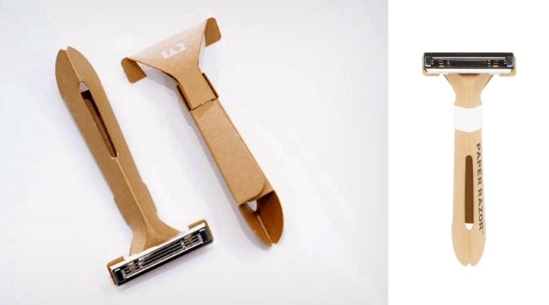 , ¡La máquina de afeitar desechable de papel ya es una realidad! Y puede ayudar a reducir toneladas de plásticos