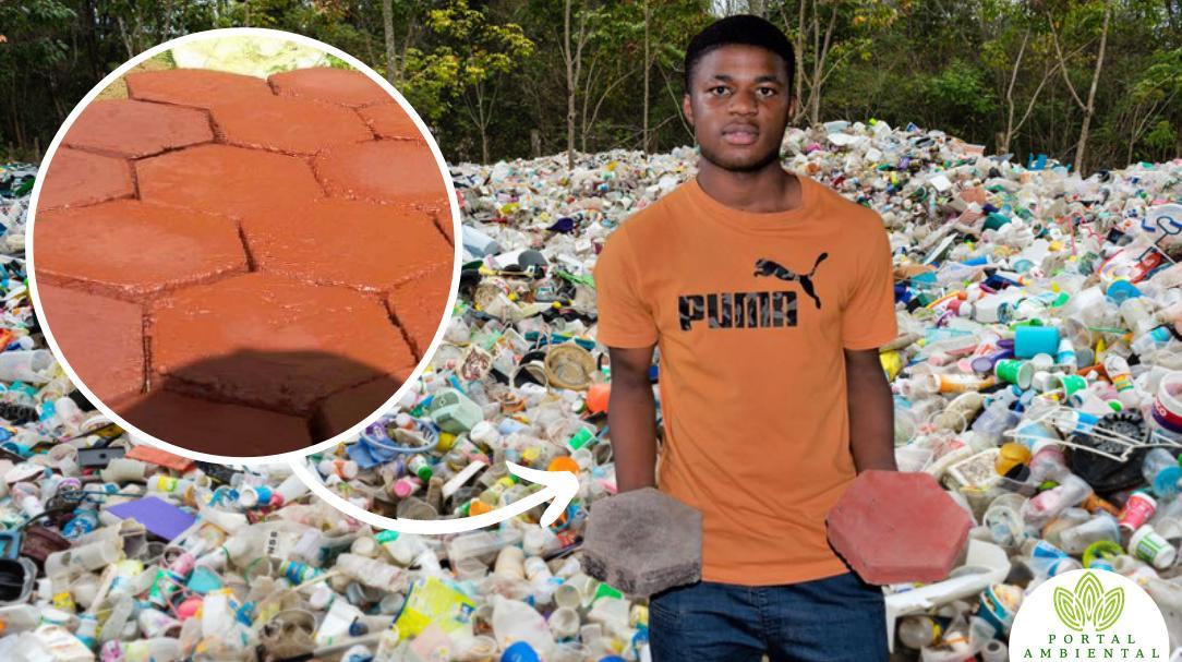 Este joven convierte basura plástica en materiales de construcción baratos y ultra resistentes