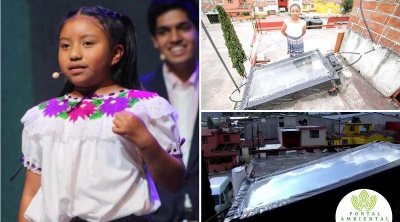 , Niña Mexicana crea un calentador de agua solar hecho 100% con materiales reciclados