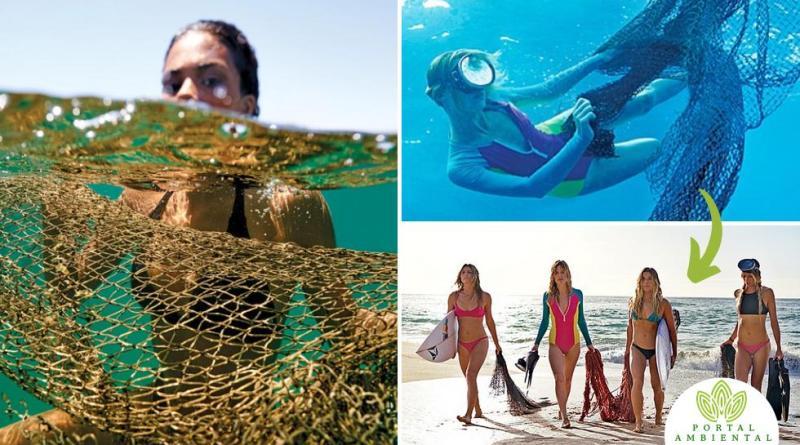 , Joven crea trajes de baño con redes de pesca desechadas, que recolecta del mar