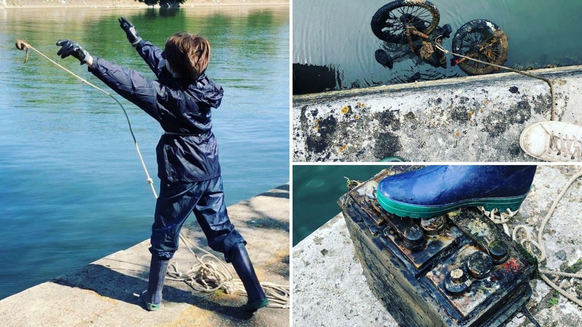 """Un héroe de 10 años ha """"pescado"""" con imanes más de 7 toneladas de basura del Río Sena"""