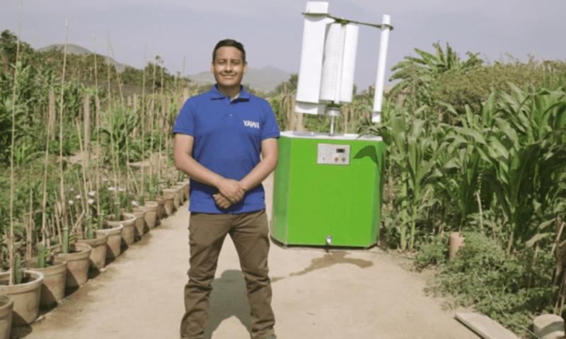 , Joven creó tecnología que permite convertir el viento en agua y es reconocido por la ONU