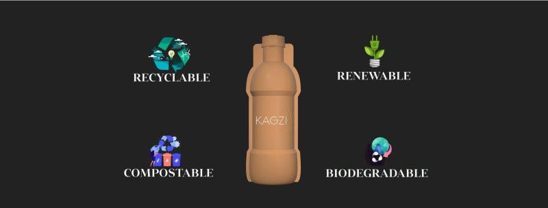 , La primera botella de papel reciclado que llegó para reemplazar el plástico
