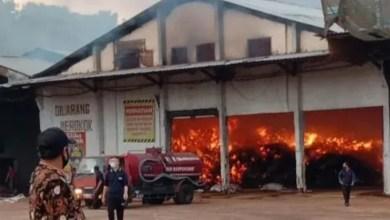 Photo of Gudang PT. Sumber Baru Penyimpanan Sabut Kelapa Terbakar
