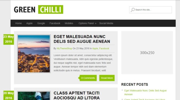 GreenChili Free WordPress Theme For Bloggers