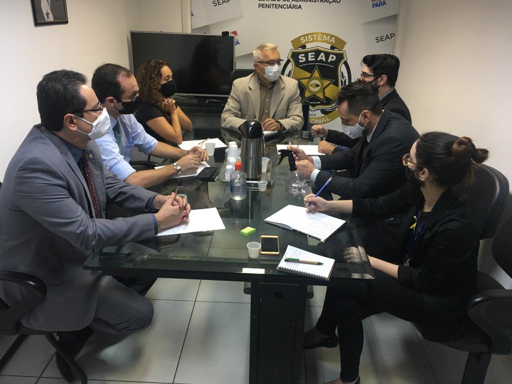 Representantes da ADPEP e da Defensoria Pública se reúnem com Secretário Adjunto da SEAP e Coordenadora do DEC
